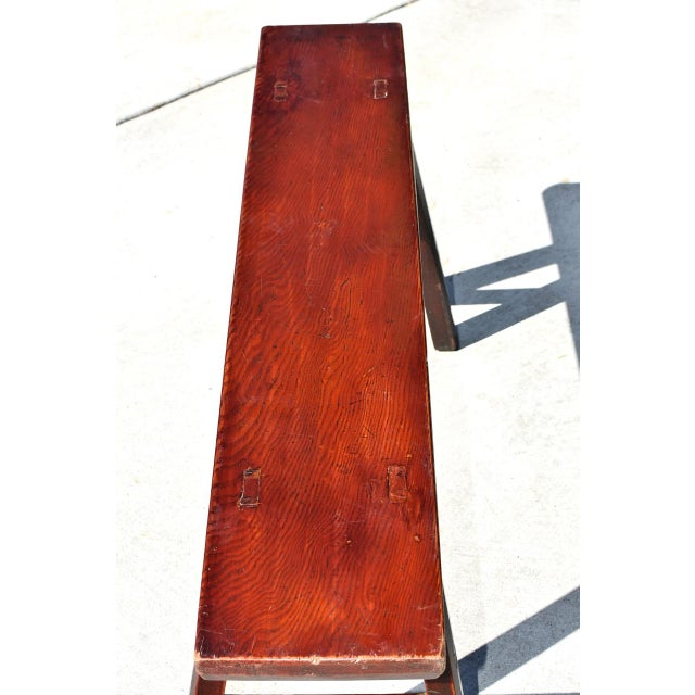 Miraculous Antique Chinese Red Brown Bench Andrewgaddart Wooden Chair Designs For Living Room Andrewgaddartcom