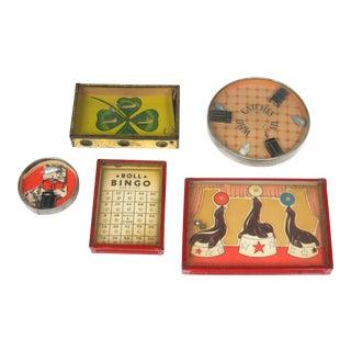 Vintage Puzzles - Set of 5 For Sale