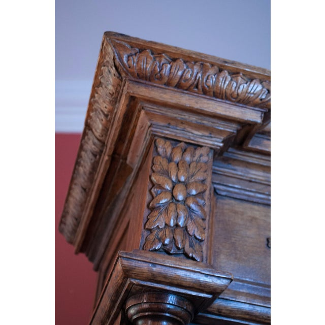 Carved French Oak Cabinet For Sale - Image 10 of 13