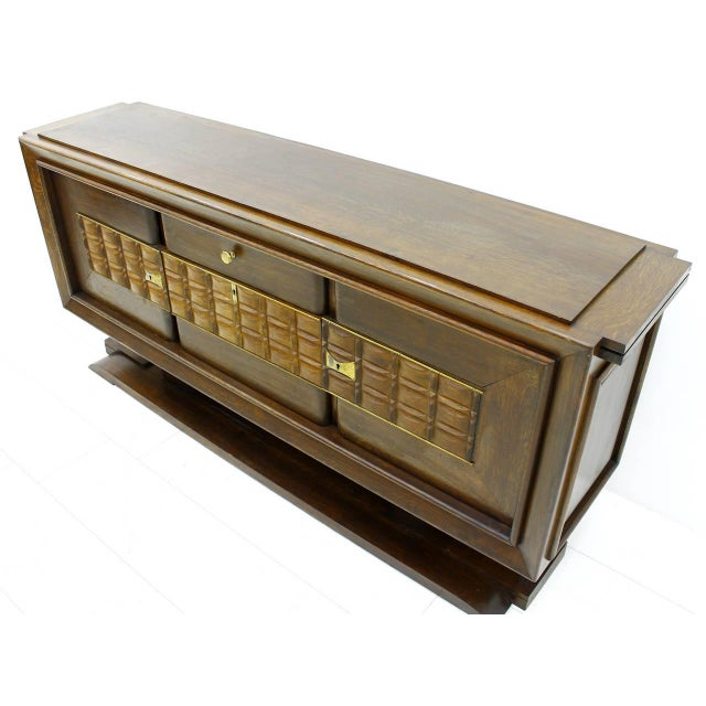 Brutalist Credenza, Sideboard by Charles Dudouyt, France, Circa 1940s For Sale - Image 9 of 10