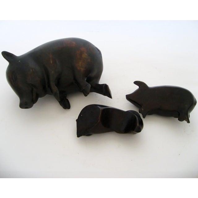 Decorative Bronze Pigs - Set of 3 - Image 3 of 5