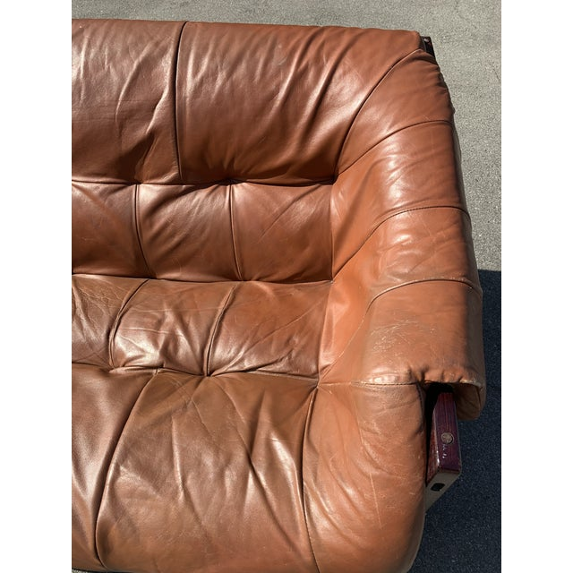 Mid-Century Percival Lafer Brazilian Leather Sofa For Sale - Image 9 of 13