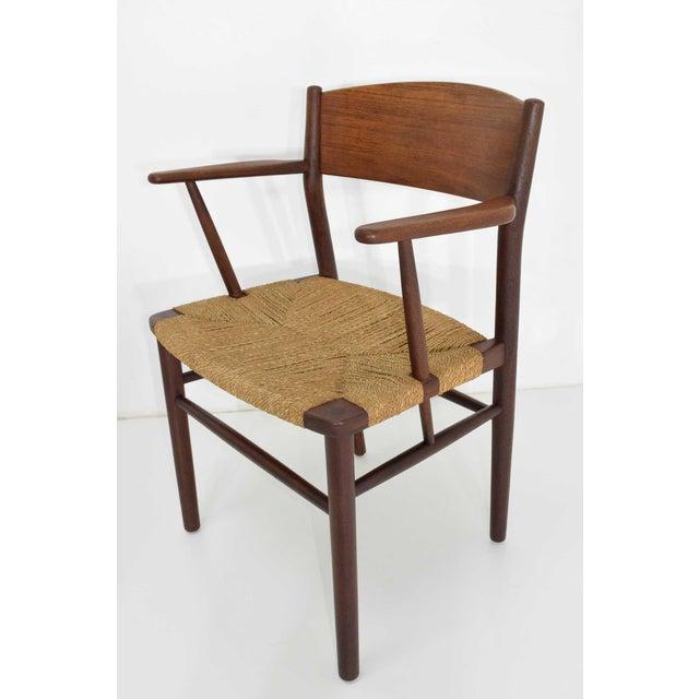 1950s Børge Mogensen Dining Chairs by Søborg Møbelfabrik in Denmark - Set of 6 For Sale - Image 5 of 9