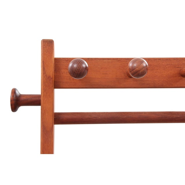 1960s Mid Century Modern Solid Wood Valet For Sale In Tampa - Image 6 of 7
