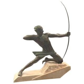 """French Art Deco """"Spartiate"""" """"Archer"""" Bronze For Sale"""