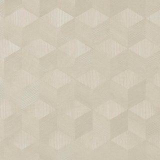 Sample - Schumacher Chevron Inlay Wallpaper in Blond For Sale