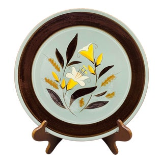 Stangl Golden Harvest Chop Plate/ 1950's Vintage Hand Painted Serving Platter For Sale
