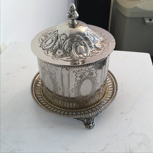 Silver Plate Biscuit Box - Image 2 of 6