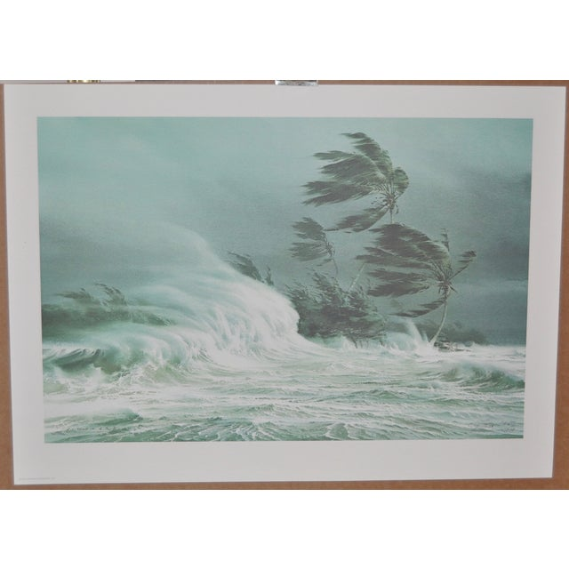 Carl G. Evers limited edition pencil signed print of a Caribbean tropical storm, circa 1976. Pencil signed and numbered...