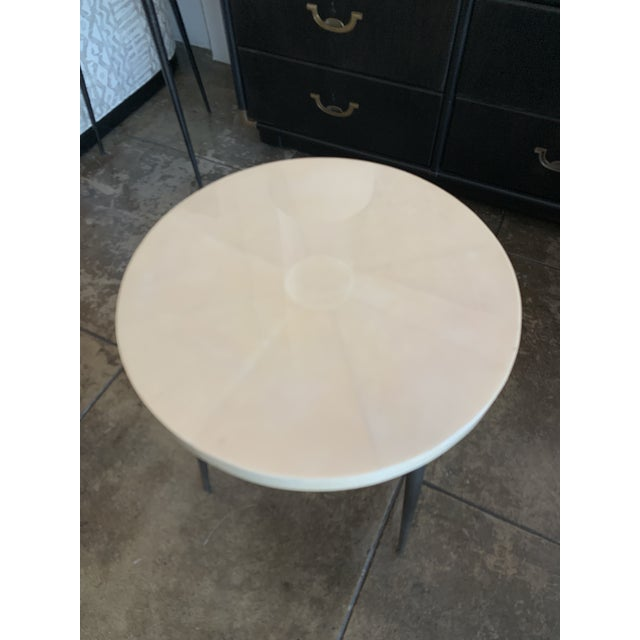 2020s Contemporary Vellum Side Table For Sale - Image 5 of 9