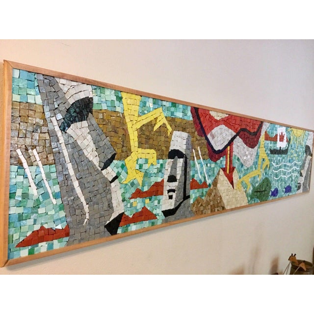 Mid-Century Modern Easter Island Mosaic For Sale - Image 3 of 8