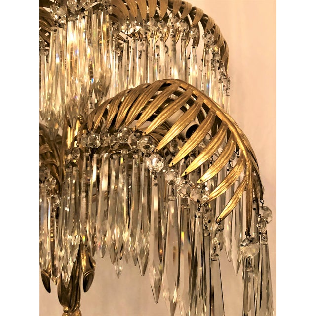 Antique French Belle Epoch Palm Chandelier, Circa 1890. For Sale - Image 4 of 5