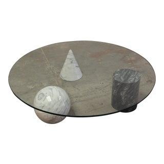 1970s Mid-Century Modern Metafora Lella and Massimo Vignelli Coffee Table For Sale