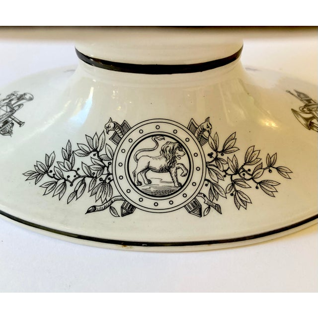White Mottahedeh Italian Pedestal Bowl For Sale - Image 8 of 12