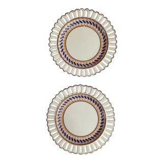 English Creamware Plates - a Pair For Sale