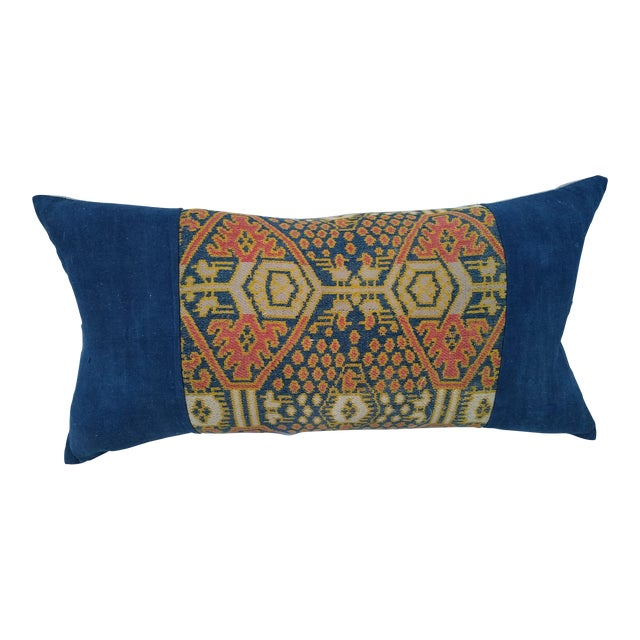 Hand Woven Ikat Pillow For Sale