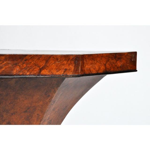 Art Deco Pedestal Console Table For Sale - Image 9 of 11