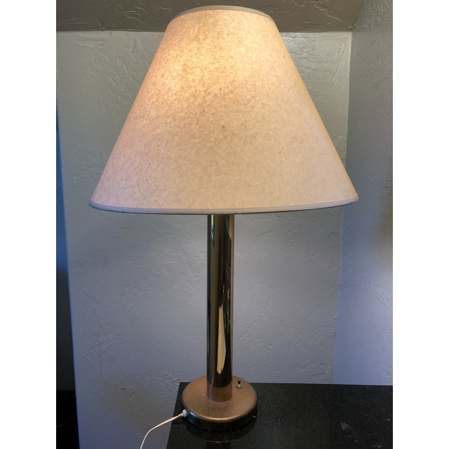 Stanley Wolf for Nessen Studio Brass Cylinder Lamp For Sale - Image 10 of 12