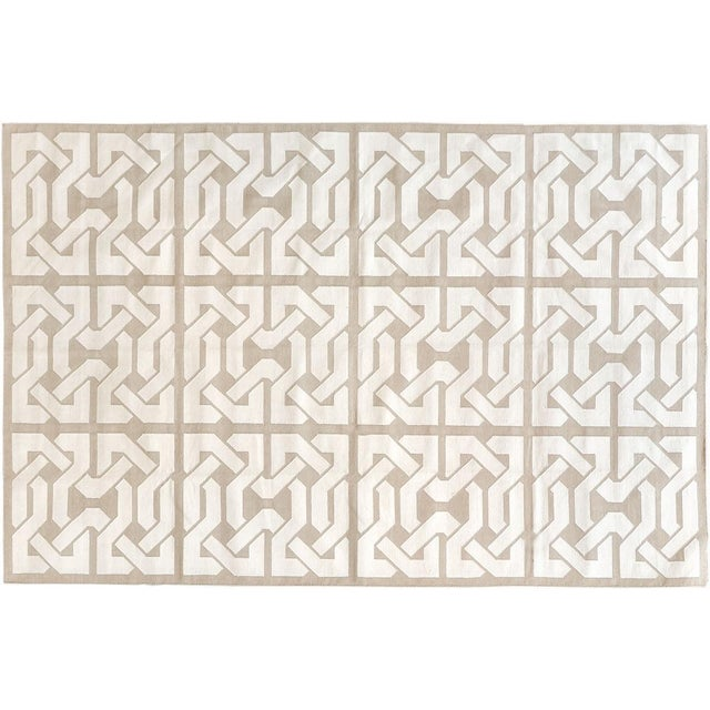 """Contemporary Stark Studio Rugs Contemporary Cotton Dhurries Rug - 9'11"""" X 13'9"""" For Sale - Image 3 of 3"""