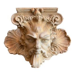 Terra Cotta Gargoyle Wall Sculpture For Sale