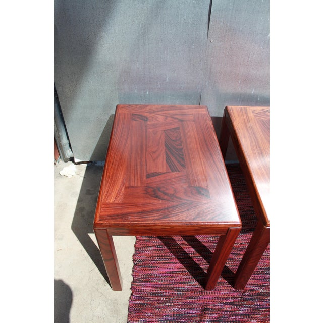 1960s Danish Rosewood Coffee & End Tables - Set of 3 - Image 6 of 10