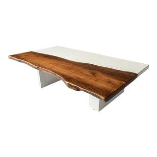 Organic Modern Live Edge Coffee Table For Sale
