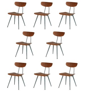 Bentwood Industrial Chairs - Set of 8 For Sale
