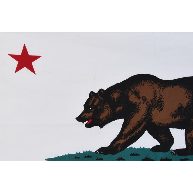 Large Vintage California Republic State Bear Flag For Sale - Image 4 of 10
