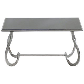 Unique Art Deco Wrought Iron Side Table 1940s For Sale