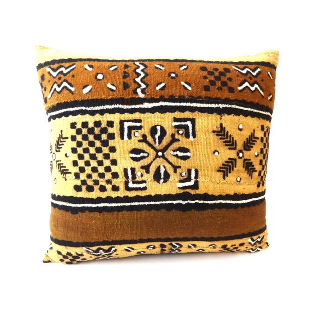 African Mud Cloth Pillow - Image 4 of 8