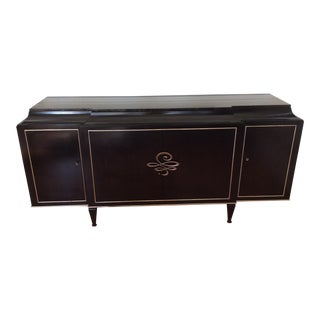 Contemporary Caracole Rive Gauch Black and Silver Sideboard Credenza For Sale