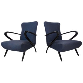 Italian Modern Paolo Buffa Style Armchairs - A Pair For Sale