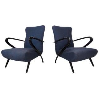 Italian Modern Paolo Buffa Style Armchairs - A Pair For Sale