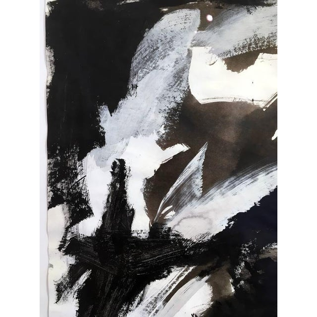 Stephanie Cate Abstract Europa 30 Study Black and White Acrylic Painting on Paper For Sale In New York - Image 6 of 7
