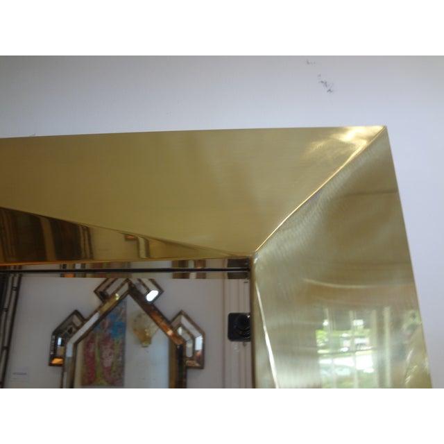 Italian Brass Modernist Geometric Mirror For Sale - Image 4 of 10