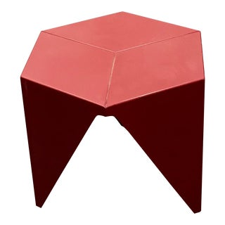 Red Noguchi Prismatic Table