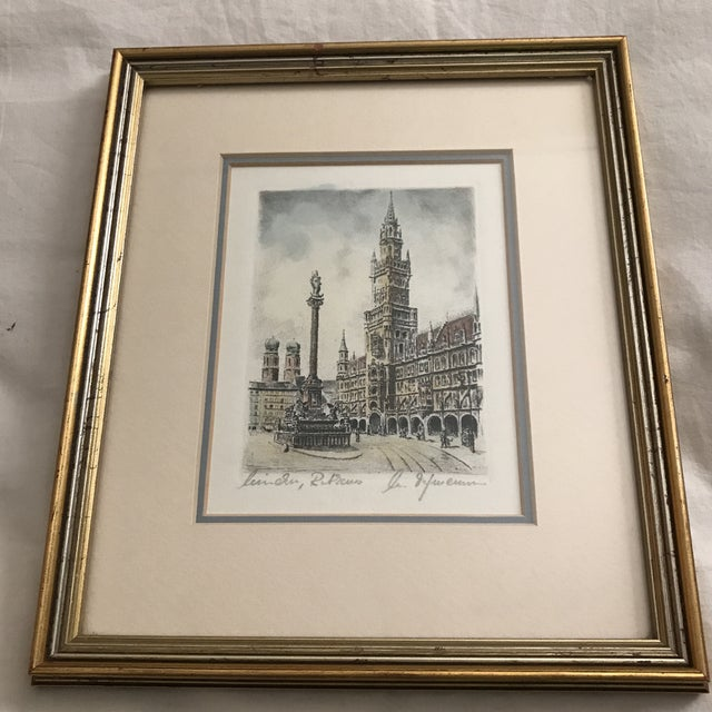 Framed Scenic European Prints - A Pair - Image 3 of 9