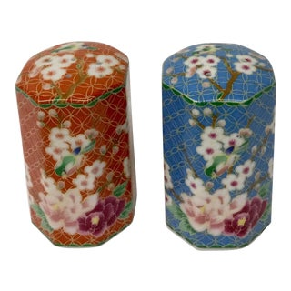 Vintage Oriental Salt and Pepper Shakers - A Pair