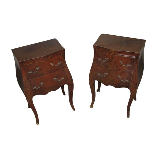 Empire Bed Side Tables - A Pair For Sale