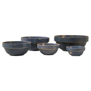Vintage American Pottery Bowls - Set of 5 For Sale