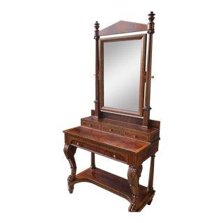 Maitland Smith Mahogany Vanity Dressing Mirror For Sale