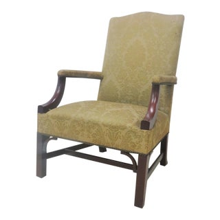 Biggs Chippendale Mahogany Library Chair