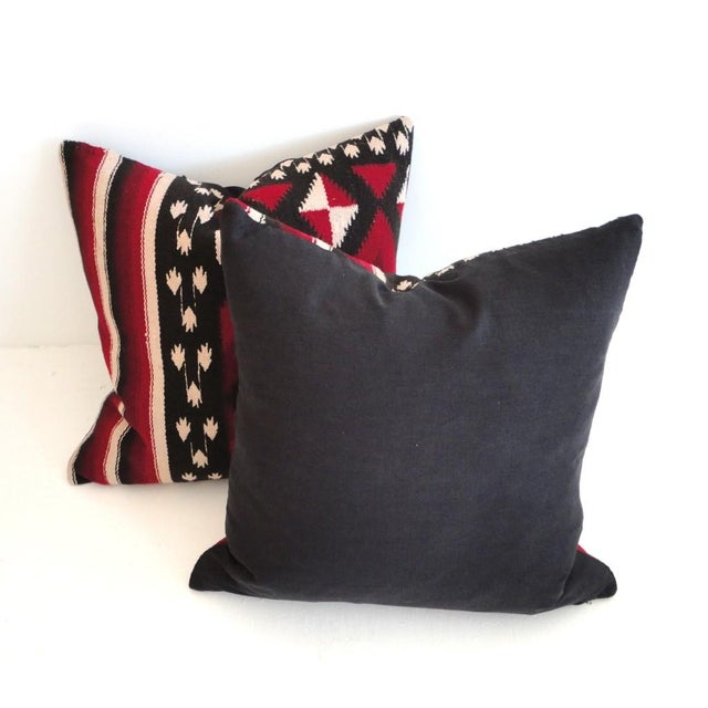 Fantastic Early Geometric Indian Weaving Pillows - Image 3 of 4