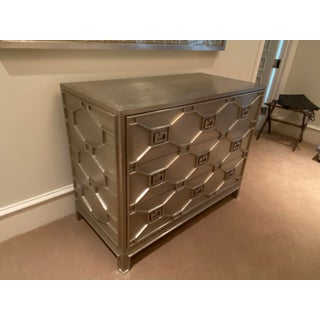 Hollywood Regency Silver Chest or Dresser From Global Views Preview
