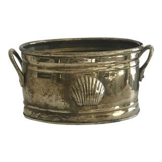 Vintage Brass Shell Container