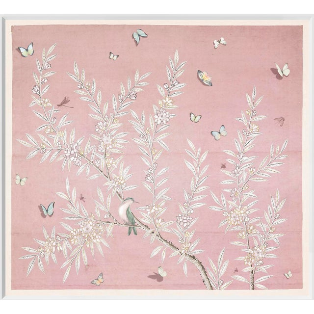 2020s Chinoiserie Art in Blush For Sale - Image 5 of 5