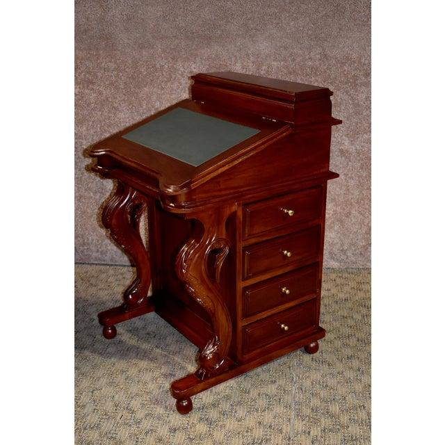 1990s English Traditional Mahogany Davenport Flip Top Desk Chairish