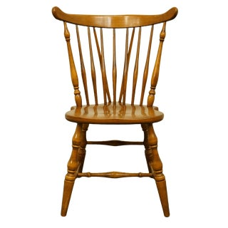 Late 20th Century O'Hearn Furniture Gardner Ma Solid Sugar Maple Dining Side Chair For Sale