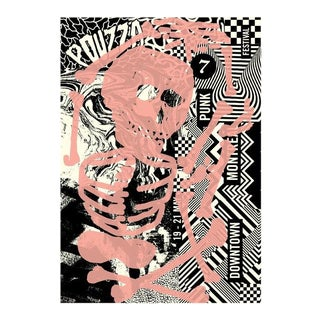 2017 Contemporary Music Poster - Pouzza Punk Festival For Sale