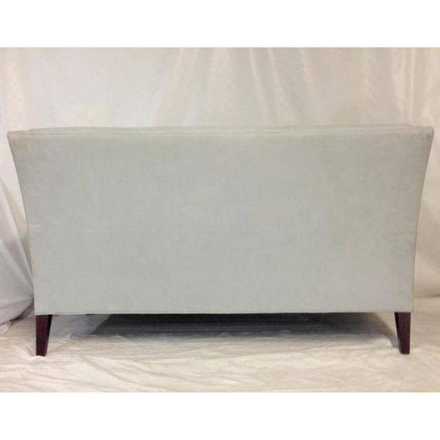 Contemporary American Made Upholstered Settee - Image 5 of 6